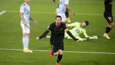 ميسي - مباراة برشلونة وسلتا فيغو فى الليجا (صور:AFP)