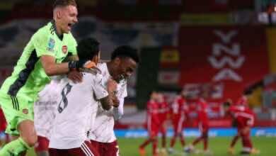 آرسنال يرد اعتباره ويتأهل إلى ربع نهائي كأس الرابطة على حساب ليفربول (صور:AFP)