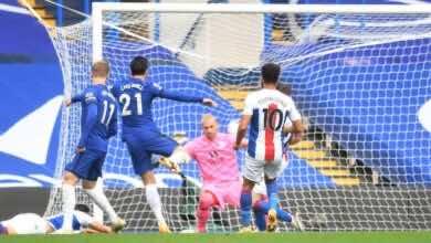 أهداف تشيلسي وكريستال بالاس في الدوري الانجليزي (صور:AFP)