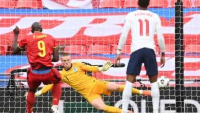أهداف مباراة انجلترا وبلجيكا فى دوري الأمم الأوروبية (صور:AFP)