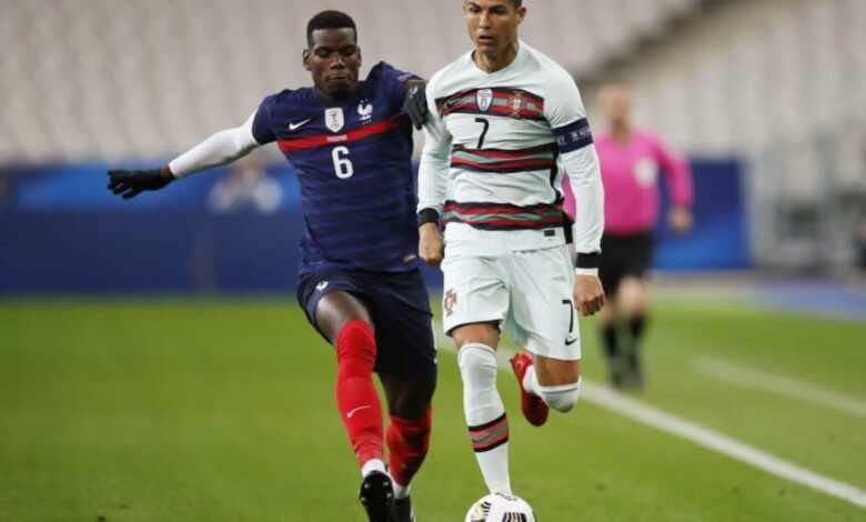 فرنسا والبرتغال في دوري الأمم الأوروبية (صور:AFP)