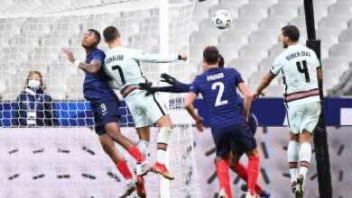 مباراة فرنسا والبرتغال فى دوري الأمم الأوروبية (صور:AFP)