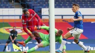 مباراة ليفربول وإيفرتون فى الدوري الانجليزي (صور:AFP)