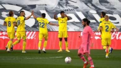 مهاجم قاديش لوزانو يسجل هدف في مرمى ريال مدريد