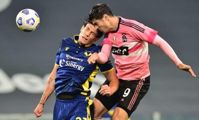 مباراة يوفنتوس وفيرونا فى الدوري الايطالي (صور:AFP)