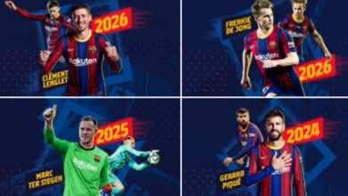 برشلونة يعلن تمديد أربعة عقود بعد فوزه العريض في دوري أبطال أوروبا
