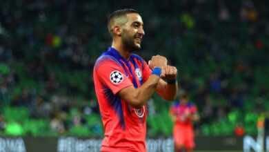 """بعد أول مشاركة.. زياش يصبح أول لاعب عربي يسجل لـ """"تشيلسي"""" في دوري أبطال أوروبا!"""