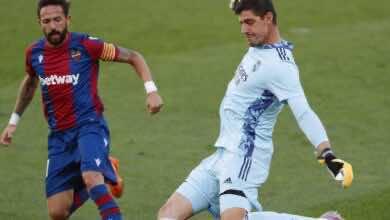 """ملخص مباراة ريال مدريد وليفانتي في الدوري الإسباني """"كورتوا يحفظ لزيدان ماء وجهه"""""""