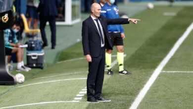 """زيدان عن معاناة ريال مدريد أمام ليفانتي.. """"كورتوا أنقذنا، ولست قلقًا"""""""