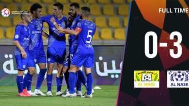 أهداف مباراة الوصل والنصر فى الدوري الاماراتي (صور:twitter)