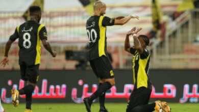 أهداف مباراة الاتحاد والاهلي في الدوري السعودي (صور:twitter)