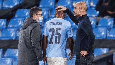 فرناندينيو يتعرض للاصابة في مباراة مانشستر سيتي وبورتو - صور Getty