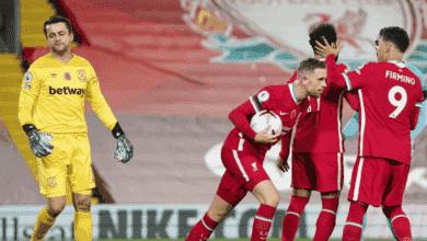 هندرسون بعد هدف تعادل ليفربول امام وست هام يونايتد