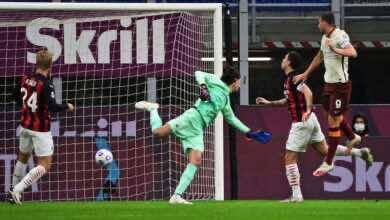 أهداف ميلان وروما فى الدوري الايطالي (صور:AFP)