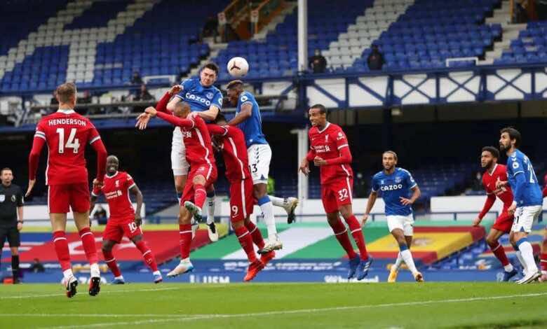 أهداف مباراة ليفربول وإيفرتون فى الدوري الانجليزي (صور:AFP)