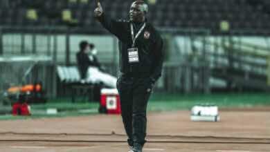 بيتسو موسيماني في مباراة الأهلي والوداد بذهاب نصف نهائي دوري ابطال افريقيا على ملعب محمد الخامس