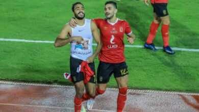 احتفال محمود كهربا بتسجيل الهدف الثالث