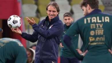 المدير الفني لمنتخب إيطاليا روبرتو مانشيني على رادار مانشستر يونايتد..