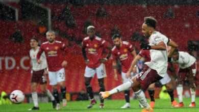 أوباميانج - أهداف مباراة مانشستر يونايتد وارسنال في الدوري الإنجليزي (صور:AFP)
