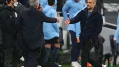 ماذا قالا مورينيو وجوارديولا بعد قمة الجولة التاسعة من الدوري الإنجليزي؟
