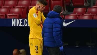 برشلونة يكشف طبيعة إصابة بيكيه وسيرجي روبرتو
