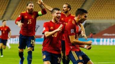 """فيديو اهداف اسبانيا والمانيا في دوري الأمم الأوروبية """"الفضيحة في إشبيلية والفرحة في برشلونة"""""""