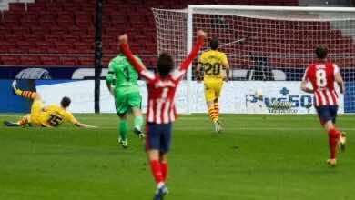 """ملخص مباراة برشلونة واتلتيكو مدريد في الدوري الإسباني """"واخيرًا سيميوني يفك العقدة"""""""
