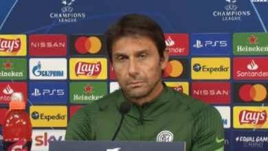 أخبار الانتر| كونتي: ريال مدريد لن يبكي على الغيابات، والمباراة بمثابة النهائي بالنسبة لنا