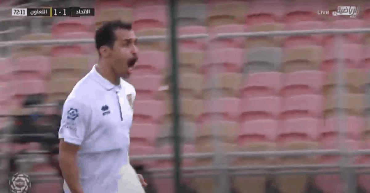 هدف عبد الله الجوعي في مباراة الاتحاد والتعاون