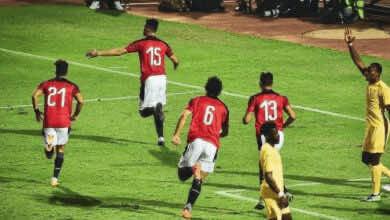 محمود حمدي الونش يسجل هدف مصر الوحيد امام توجو في تصفيات امم افريقيا 2021 - Egypt