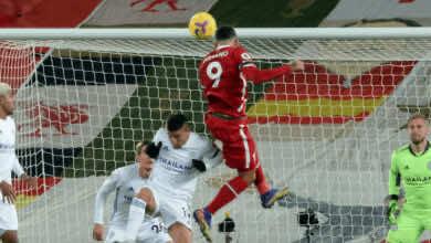 هدف فيرمينو في مباراة ليفربول وليستر سيتي ضمن الجولة 9 من الدوري الانجليزي