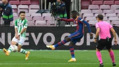 ديمبلي - أهداف مباراة برشلونة وريال بيتيس في الدوري الإسباني (صور:AFP)