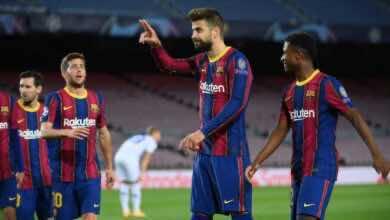 مباراة برشلونة ودينامو كييف فى دوري ابطال اوروبا (صور:AFP)