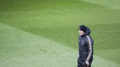 زيدان في تدريبات ريال مدريد - real madrid
