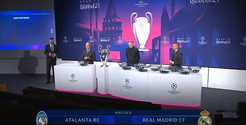 وقائع قرعة دوري ابطال اوروبا - ريال مدريد يواجه أتالانتا