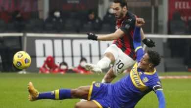 مباراة ميلان وبارما فى الدوري الايطالي (صور:AFP)