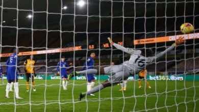 تشيلسي وولفرهامبتون في الدوري الانجليزي (صور:AFP)