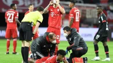 بايرن ميونخ يؤكد عدم خطورة إصابة كومان
