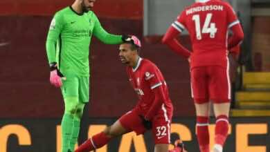 الإصابات لا تفارق ليفربول هذا الموسم لزيادة المعاناة أكثر لإصابة ماتيب ثلاثة أسابيع