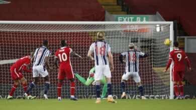 مباراة ليفربول ووست بروميتش في الدوري الانجليزي (صور:AFP)