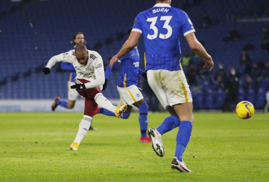 لاكازيت - اهداف آرسنال وبرايتون في الدوري الانجليزي (صور:AFP)