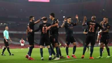 مباراة مانشستر سيتي وارسنال فى كأس الرابطة (صور:AFP)