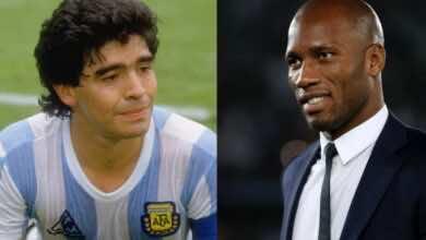 """دروجبا ينعي مارادونا بكلمات مؤثرة.. """"انتهت كرة القدم بالنسبة لي بعد وفاة مُلهمي"""""""