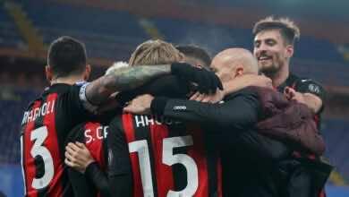 """ملخص مباراة ميلان وسامبدوريا في الدوري الايطالي """"الروسونيري يبتعد بالصدارة"""""""