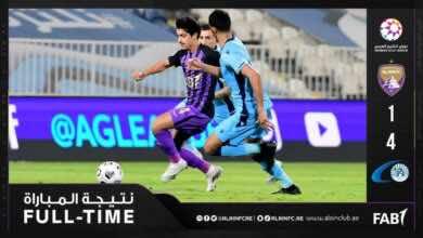اهداف مباراة العين وبني ياس في الدوري الاماراتي (صور:twitter)