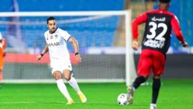 صور مباراة الهلال والرائد في الدوري السعودي (صور:twitter)