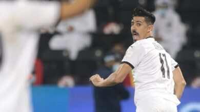 فرحة بغداد بونجاح بتسجيل هدف الفوز فى مباراة السد والريان بالدوري القطري (صور:twitter)