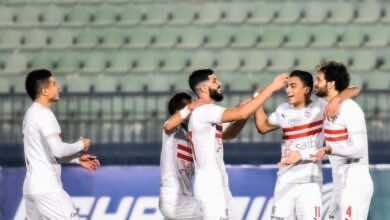 صور مباراة الزمالك والمقاولون فى الدوري المصري (صور:twitter)