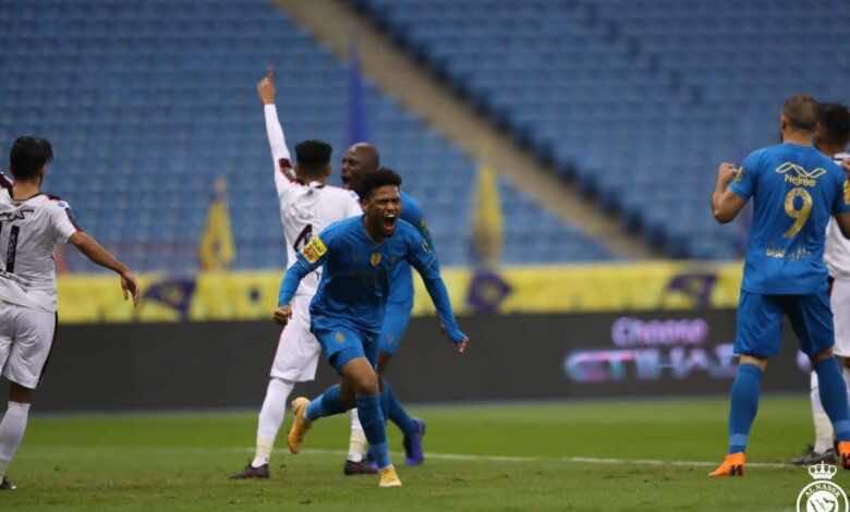 فرحة احمد يحيي - النصر والرائد في كأس خادم الحرمين الشريفين (صور:twitter)