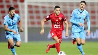 مباراة شباب الاهلي دبي وبني ياس في الدوري الاماراتي (صور:twitter)
